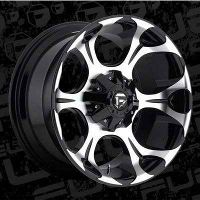 Mht Fuel Offroad D524 Dune, 20x10 Wheel With 6 On 135 And 6 On 5.5 Bolt Pattern - Gloss Black Machined - D52420009845