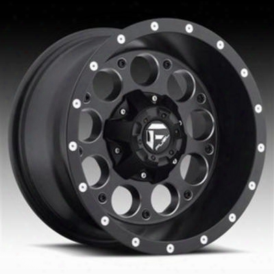 Mht Fuel Offroad D525 Revolver, 15x10 Wheel With 5 On 4.5 And 5 On 4.75 Bolt Pattern - Black With Machining - D52515000437