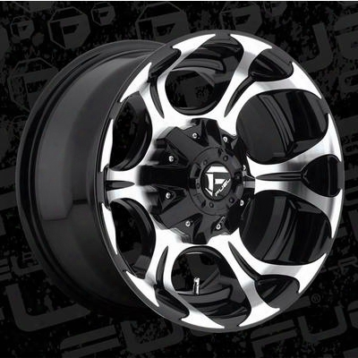 Mht Fuel Offroad Dune, 17x9 Wheel With 8 On 6.5 Bolt Pattern - Black Machined - D52417908250