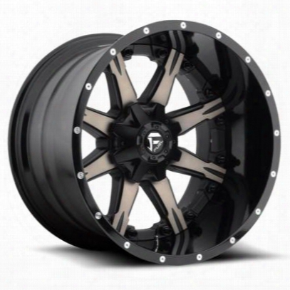 Mht Fuel Offroad Nutz, 22x14 Wheel With 8 On 170 Bolt Pattern - Black Machined - D25222401747
