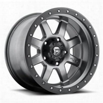 Mht Fuel Offroad Trophy, 18x10 Wheel With 6 On 5.5 Bolt Pattern - Gun Metal Matte - D55218008350