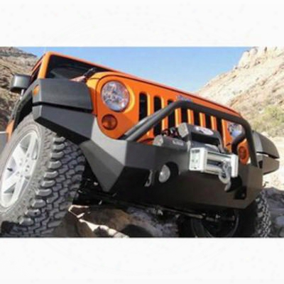 Mountain Off Road Enterprises Rockproof Full-width, High-clearance Front Bumper With Grille Guard, Black (black) - Jfb505pc
