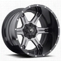 MHT Fuel Offroad D257 Driller, 20x12 Wheel with 8 on 170 Bolt Pattern - Black Machined DDT - D25720201747