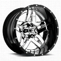MHT Fuel Offroad Full Blown, 22x8.25 Wheel with 8 on 170 Bolt Pattern - Chrome - D253228217FB