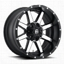 MHT Fuel Offroad Maverick, 20x14 Wheel with 5 on 150 and 5 on 5.5 Bolt Pattern - Black Machined - D53720407045