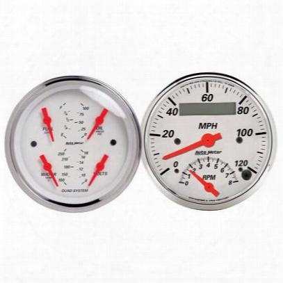 Auto Meter Arctic White Quad Gauge/tach/speedo Kit - 1309