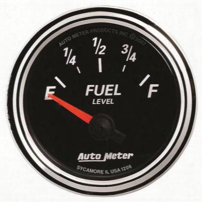 Auto Meter Designer Black Ii Fuel Level Gauge - 1206