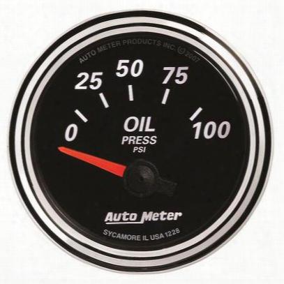 Auto Meter Designer Black Ii Oil Pressure Gauge - 1228