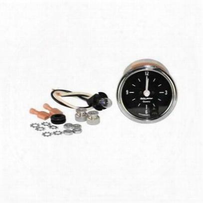 Auto Meter Full Sweep Clock, Black - Amg201019