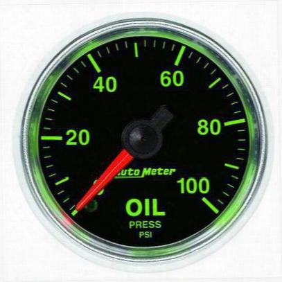 Auto Meter Gs Mechanical Oil Pressure Gauge - 3821