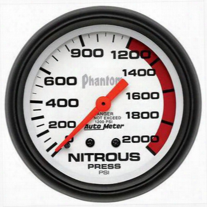Auto Meter Phantom Mechanical Nitrous Pressure Gauge - 5828