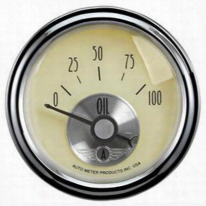 Auto Meter Prestige Series Antique Ivory Mechanical Oil Pressure Gauge Aut Meter - 2027