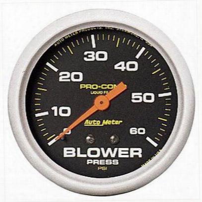 Auto Meter Pro-comp Liquid-filled Mechanical Blower Pressure Gauge - 5403