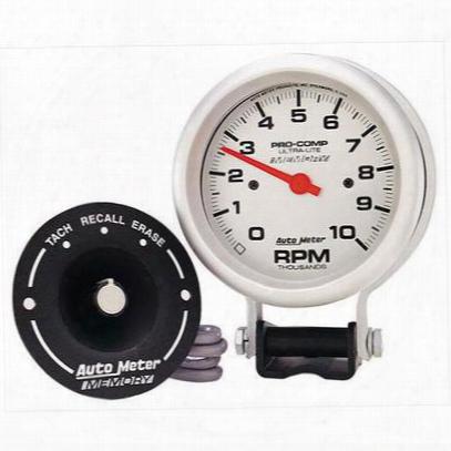 Auto Meter Pro-comp Silver Electric Tachometer - 6604