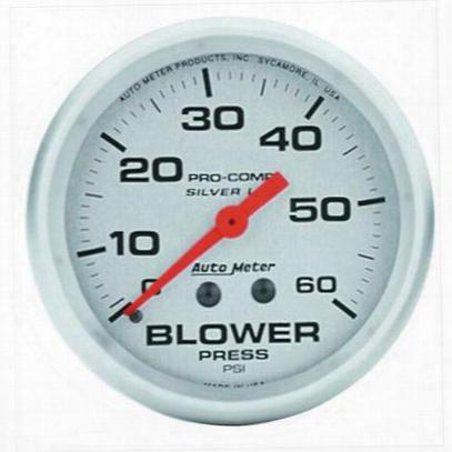 Auto Meter Silver Blower Pressure Gauge - 4602