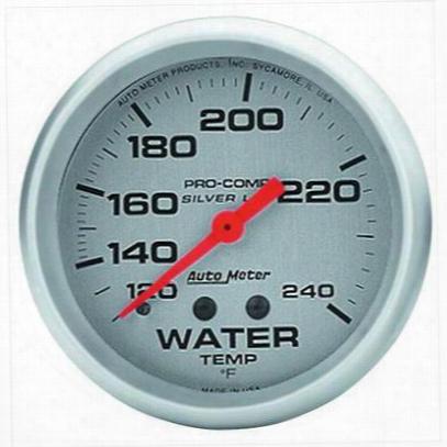Auto Meter Silver Water Temperature Gauge - 4632
