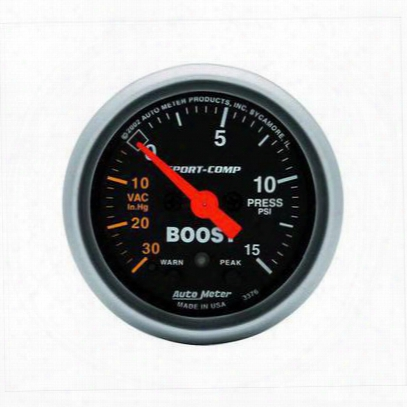 Auto Meter Sport-comp Electric Boost/vacuum Gauge - 3376