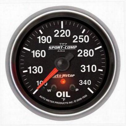 Auto Meter Sport-comp Ii Electric Oil Temperature Gauge - 7656