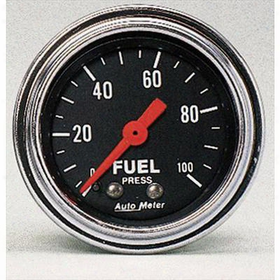 Auto Meter Traditional Chrome Mechanical Fuel Pressure Gauge - 2412