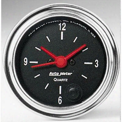 Auto Meter Traditional Chrome Series Performance Clock - 2585