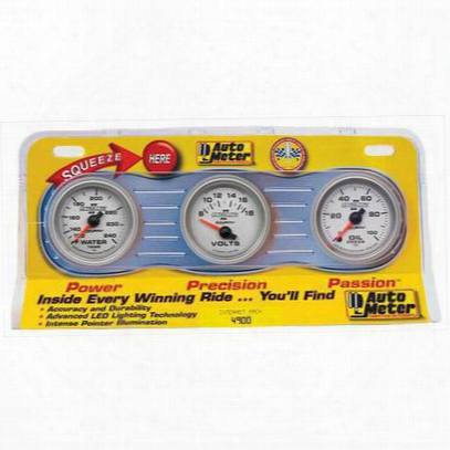 Auto Meter Ultra Lite 3 Gauge Interact Pack - 4900