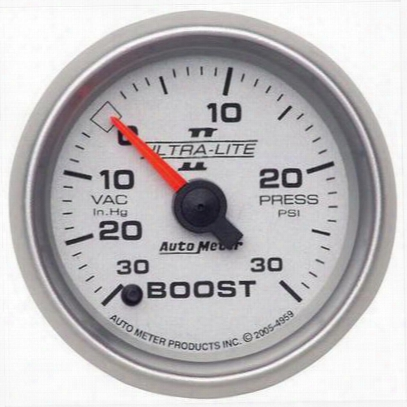 Auto Meter Ultra-lite Ii Electric Boost/vacuum Gauge - 4959