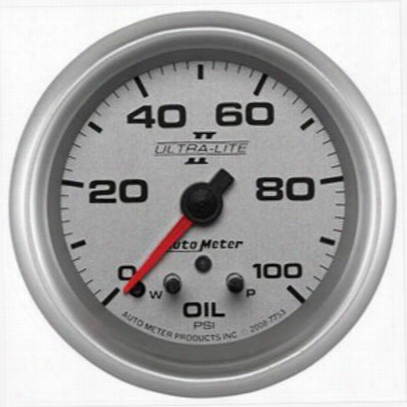 Auto Meter Ultra-lite Ii Electric Oil Pressure Gauge - 7753