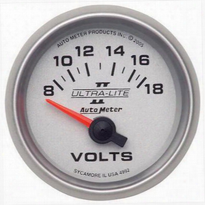 Auto Meter Ultra-lite Ii Electric Voltmeter Gauge - 4992