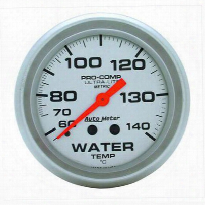 Auto Meter Ultra-lite Mechanical Metric Water Temperature Gauge - 4431-m