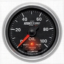 Auto Meter Sport-Comp II Electric Oil Pressure Gauge - 7653