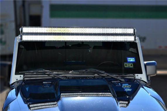 Nfab Modular Overhead Windshield Light Mounting System, Textured Black - N/fj07450lr