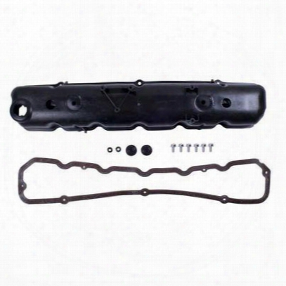 Omix-ada 4.2l Plastic Valve Cover Kit With Cork Gasket (black) - 17401.04