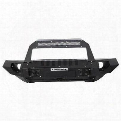 Go Rhino Brj40 Front Bumper With Rockline Light Bar Mount And Straight End Caps (textured) - 230115101t