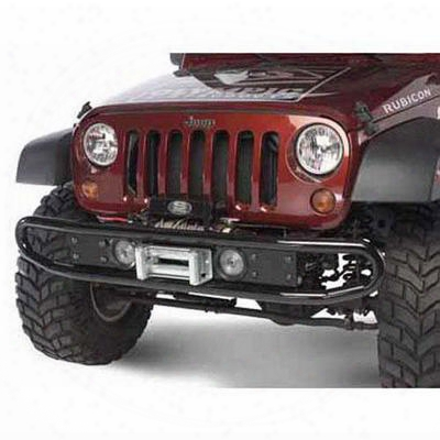 Olympic 4x4 Products Diamondback Front Bumper In Gloss Black (black) - 230-171