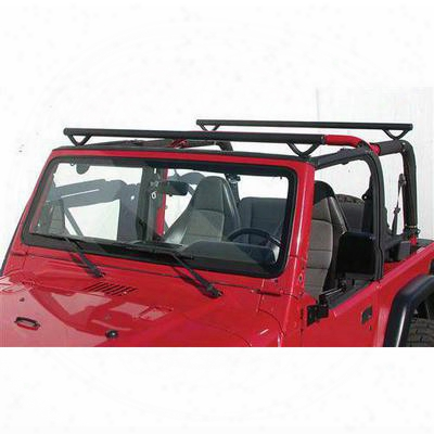 Olympic 4x4 Products Quick N Easy Rack In Gloss Black For Yj Wrangler - 908-111
