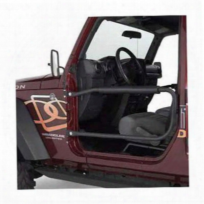 Olympic 4x4 Products Safari Front Tube Doors In Gloss Black - 131-171
