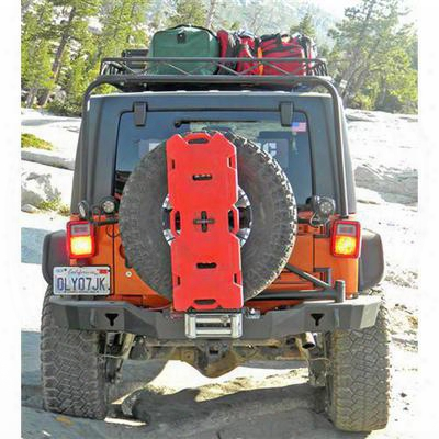 Olympic 4x4 Products Smuggler Rear Bumper With Tuff N Ez Tire Carrier In Gloss Black (black) - 5567-171