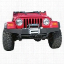 Olympic 4x4 Products Front Rock Winch Bumper in Textured Black (Black) - 506-104
