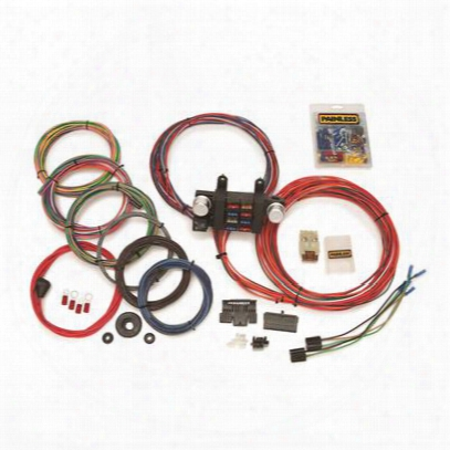 Painless Wiring Universal 18 Circuit Basic Customizable Chassis Harness W/extra Lengtj Wires - 10307