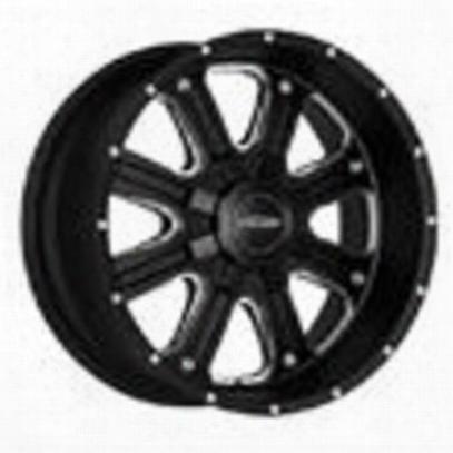 Pro Comp Series 5182, 17x9 Wheel With 8 On 170 Bolt Pattern - Matte Black Machine - 5182-7970