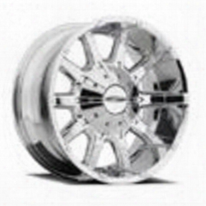 Pro Comp Series 6050 10 Gauge, 20x9 Wheel With 6 On 5.5 And 6 On 135 Bolt Pattern - Chrome - 6050-293945