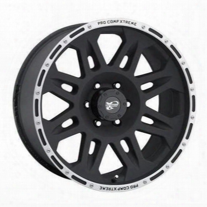 Pro Comp Series 7105, 17x8 Wheel With 5 On 5 Bolt Pattern - Flat Black - 7105-7873