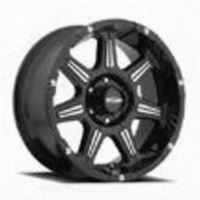 Pro Comp Series 8151 District, 20x9 Wheel With 6 On 135 Bolt Pattern - Black With Machined - 8151-2936