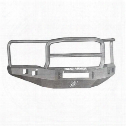 Road Armor Front Stealth Non-winch Illuminator Bumper Lonestar Square Light Port In Raw Steel (bare) - 214r5z-nw