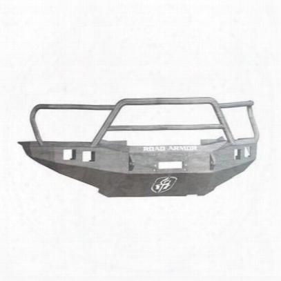 Road Armor Front Stealth Winch Bumper Lonestar Square Light Port In Raw Steel (bare) - 905r5z