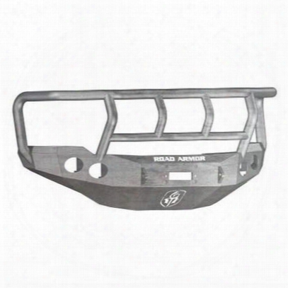 Road Armor  Front Stealth Winch Bumper Titan Ii Round Light Port In Raw Steel (bare) - 38202z