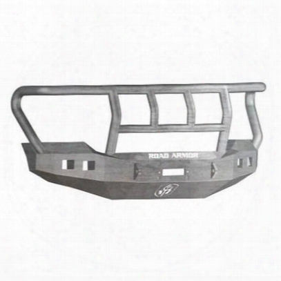 Road Armor Front Stealth Winchb Umper Titan Ii Square Light Port In Raw Steel (bare) - 611r2z
