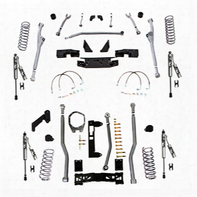 Rubicon Express 3.5 Inch Extreme Duty Radius, Front/rear 3-link Long Arm Lift Kit With Fox Performance Resi Shocks - Jkr343fpr