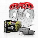 Power Stop Z26 1-Click Performance Front Brake Kit w/Calipers (Natural) - KC2149-26