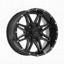 Pro Comp Series 8142, 20x9.5 Wheel with 8 on 170 Bolt Pattern - Gloss Black and Milled Finish - 8142-29570